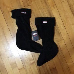 Hunter tall fleece socks + instant boot shine